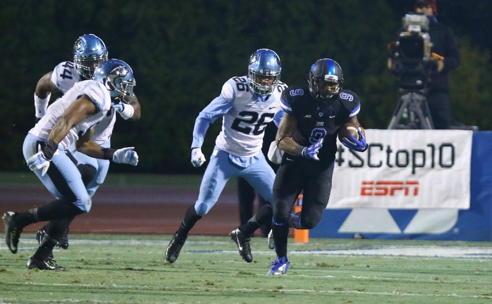 The Blue Devils average 183.3 rushing yards per game, good for 47th in the nation.