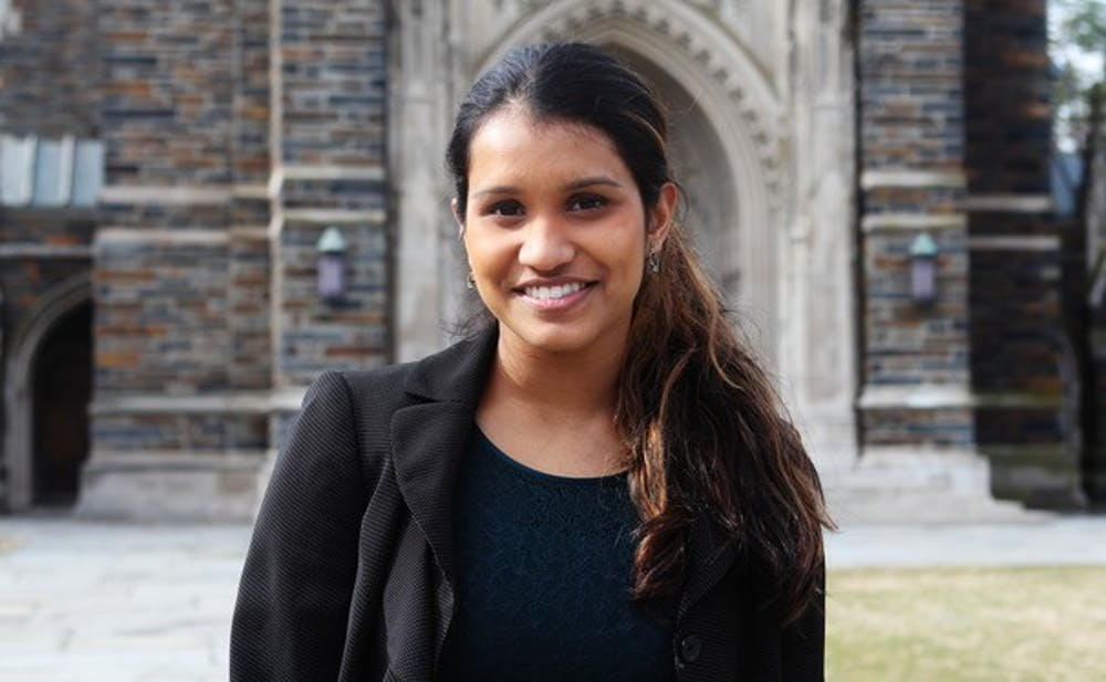 Sophomore Lavanya Sunder became Duke Student Government with 63 percent of the student body's vote.