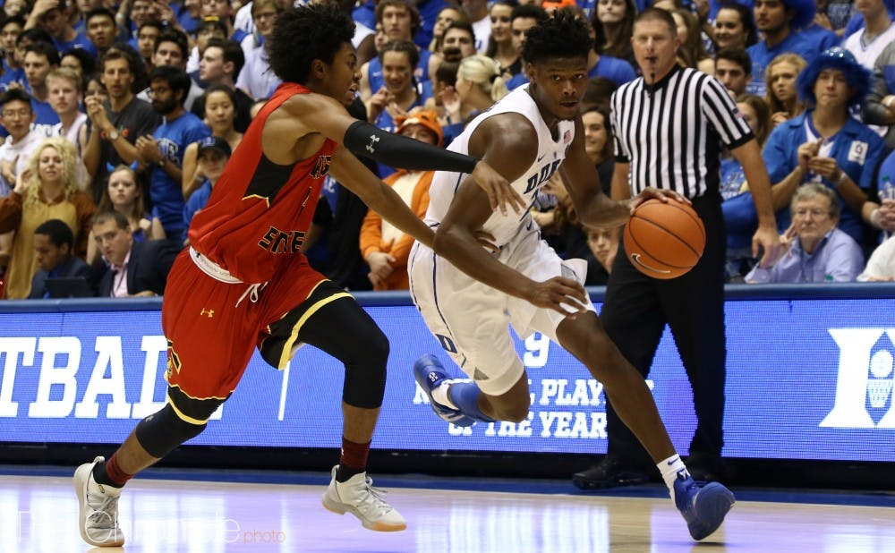 <p>Cam Reddish is regarded by many to be the best shooter of the Blue Devils' freshmen, but the Norristown, Pa., struggled through exhibition play.</p>