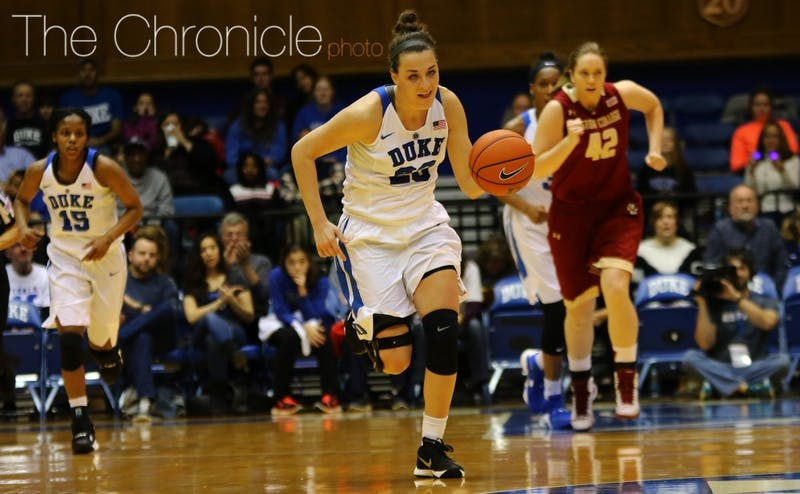 Redshirt sophomore Rebecca Greenwell scored 23 points Sunday in the Blue Devils' victory against Boston College and could do damage from beyond the arc again Thursday at Clemson.