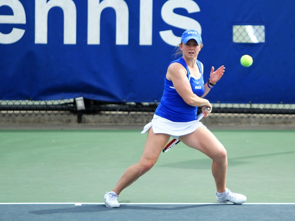 Sophomore Alyssa Smith led the women's tennis team Sunday, as she advanced all the way to the consolation finals.