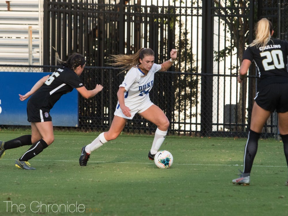 Mackenzie Pluck was the driving force for another elite night for Duke's attacking frontline.