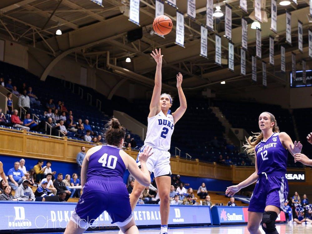 <p>Haley Gorecki led the Blue Devils with 15 points.</p>