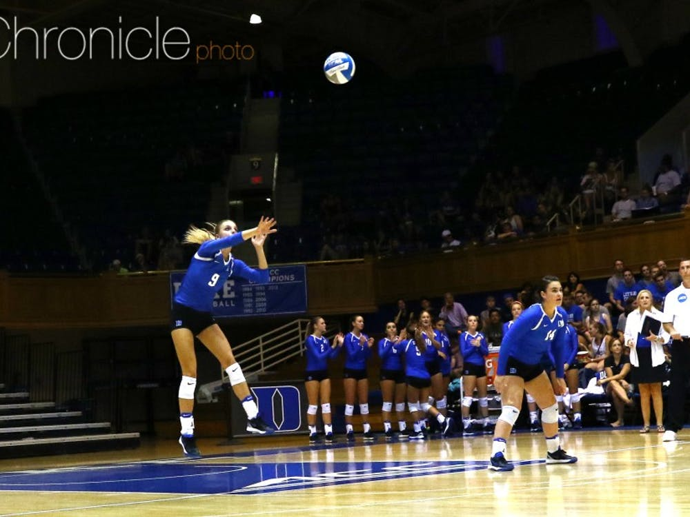 Freshman setter Cindy Marina had 61 assists against the Seahawks, setting up her teammates time and time again in the five-set battle.