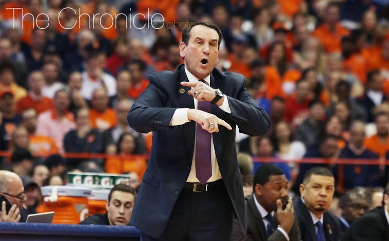 Duke head coach Mike Krzyzewski had plenty of thoughts on the NCAA's handling of the latest rule changes regarding the NBA draft, among other things.