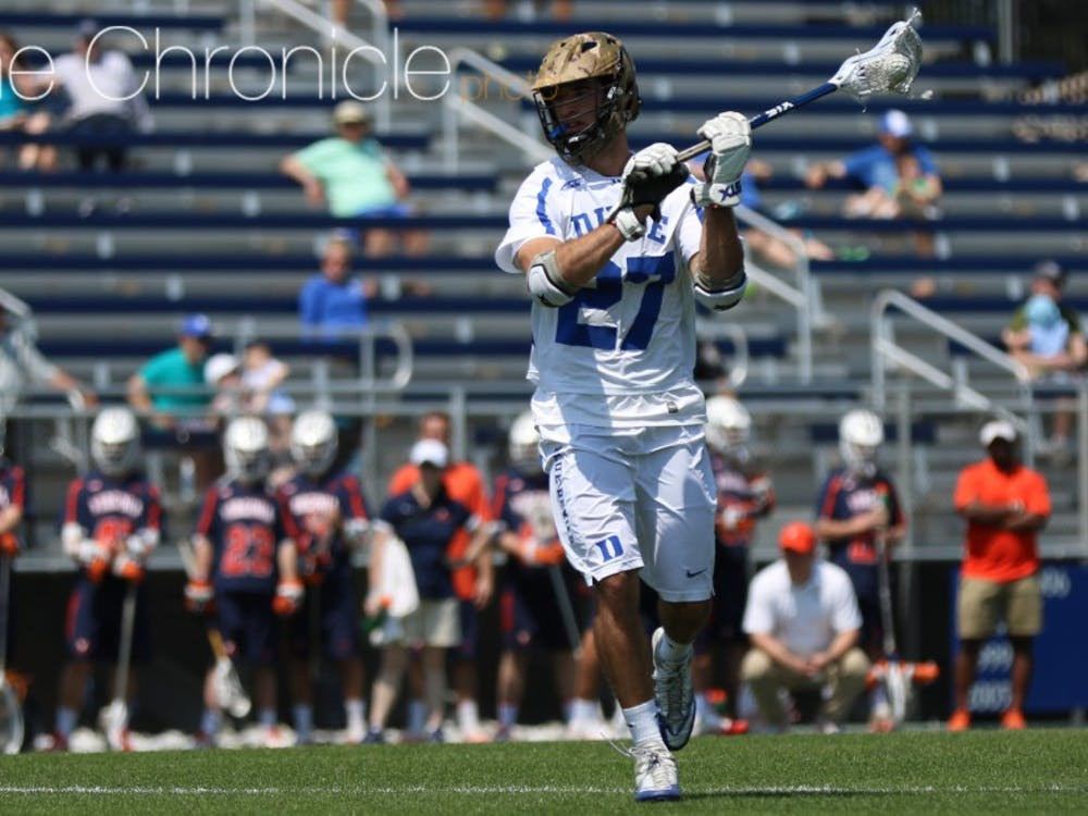 Sophomore midfielder Brad Smith is third on a stacked Blue Devil team in points with 13 goals and 15 assists.