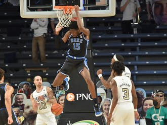 Center Mark Williams is one of multiple freshman rotation pieces who are expected to be back in Durham next season.