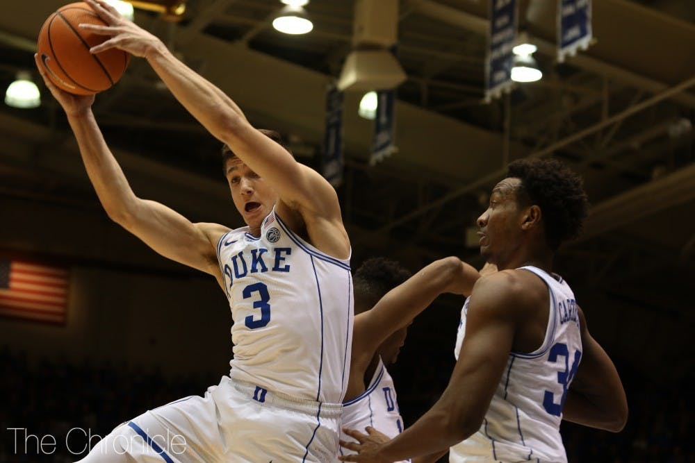<p>Grayson Allen nearly outscored the rest of his team with a red-hot first half.</p>