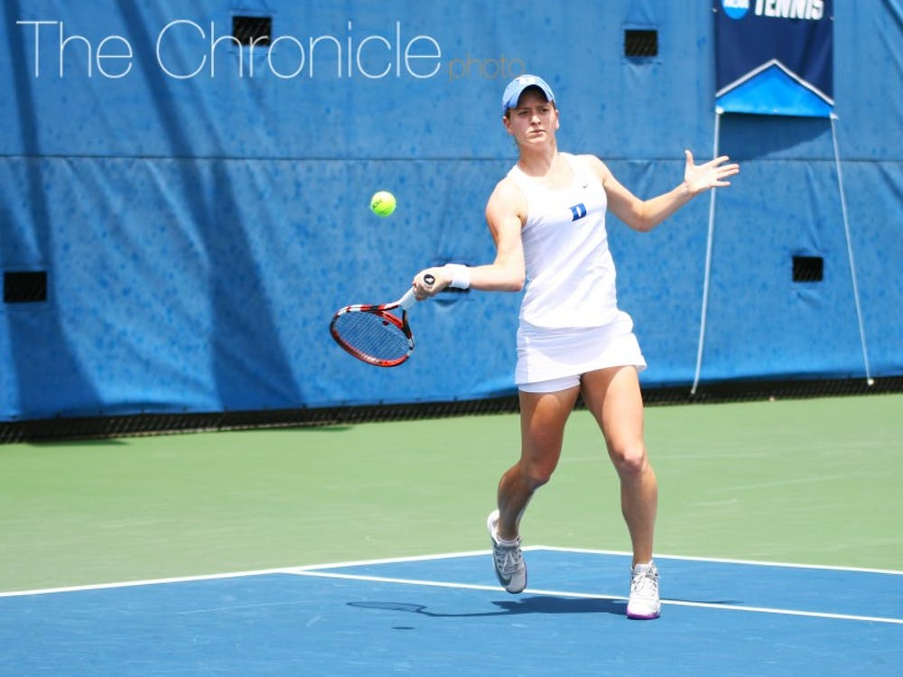 Chalena Scholl will look to anchor the Blue Devils' singles lineup at the No. 1 spot this season.