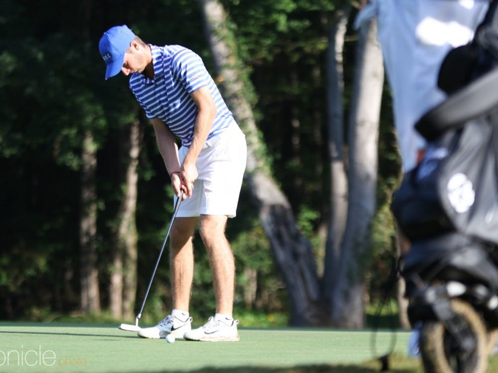 Duke men's golf used a dominant day three of stroke play en route to a second-place finish.