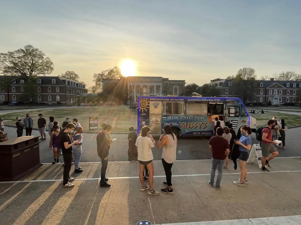 <p>Food trucks were also available outside of East Campus Union when it was temporarily closed in the spring.</p>