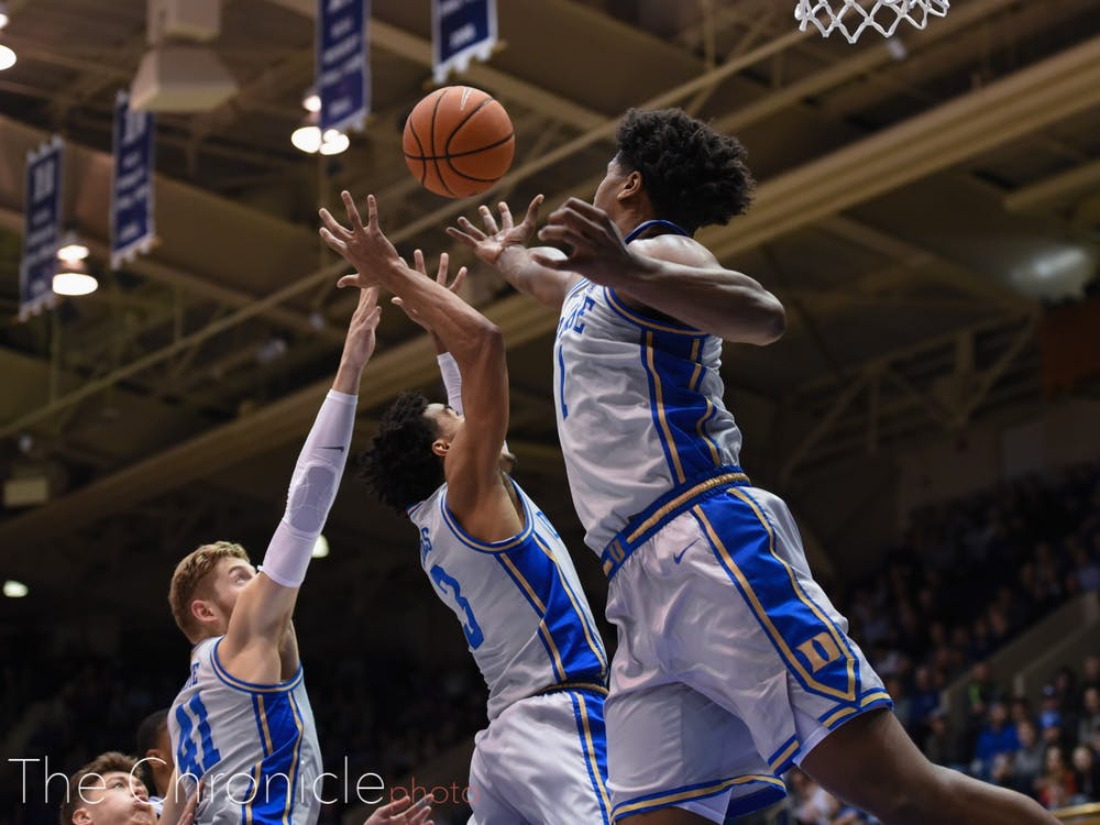<p>The Duke defense forced 21 turnovers Tuesday night.</p>