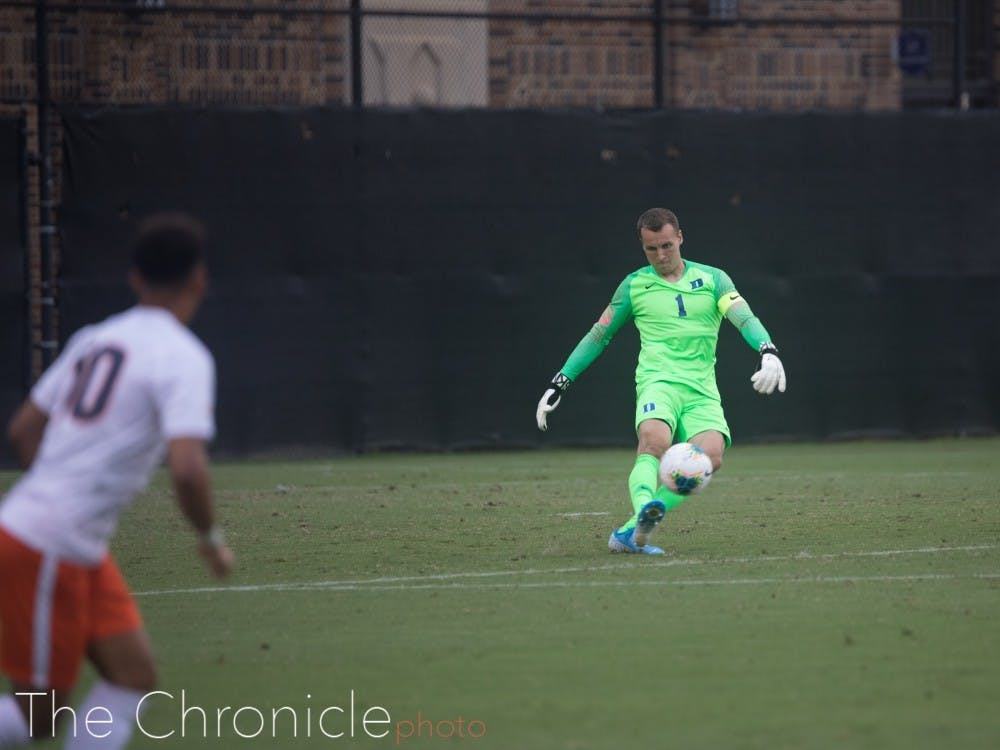 Despite men's soccer's struggles, Will Pulisic has been terrific in goal for the Blue Devils
