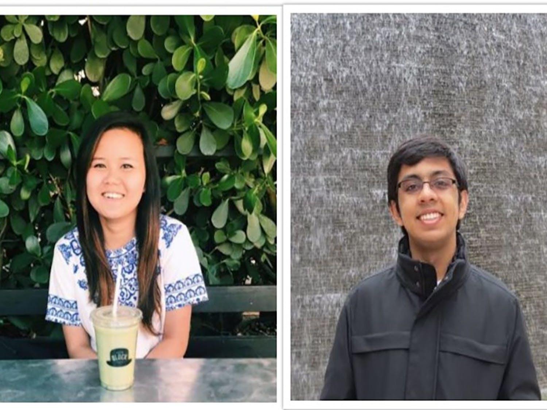 Jenny Jiao (left) and Salil Mitra (right), the USUDC champions. Courtesy of Duke University Debating Society.