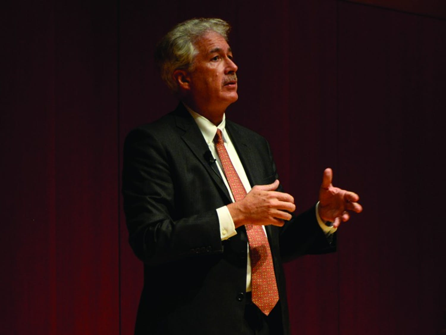 William Burns, the former ambassador to Russia and Jordan, discussed foreign policy challenges for the U.S. Tuesday.