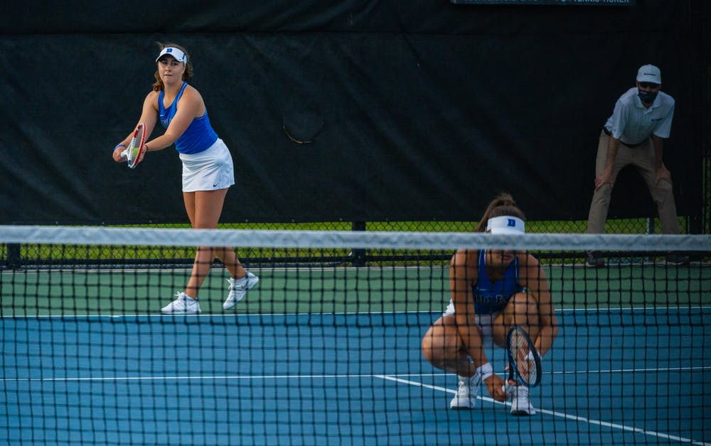 Chloe Beck and Karolina Berankova may have lost their doubles match, but Beck came back in singles to win the deciding point.