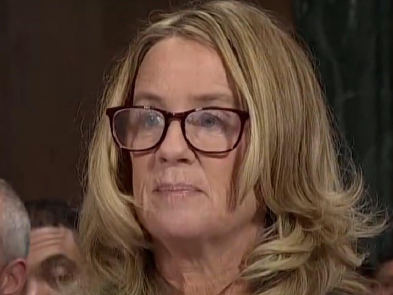 Christine Blasey Ford testifying before the Senate, Sept. 27, 2018 Photo courtesy of Wikimedia Commons