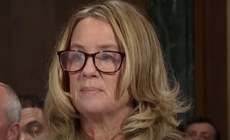 Christine Blasey Ford testifying before the Senate, Sept. 27, 2018 Photo courtesy of Wikimedia Commons