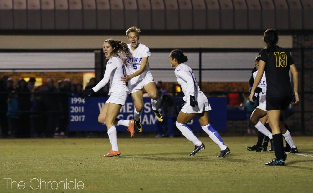 Duke scored three second-half goals to beat Baylor 4-0.