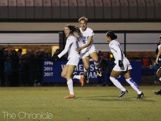 Duke scored three second-half goals to beat Baylor 4-0.