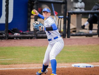 Sophomore Kamryn Jackson was hit by three pitches in Duke softball's series sweep of N.C. State.