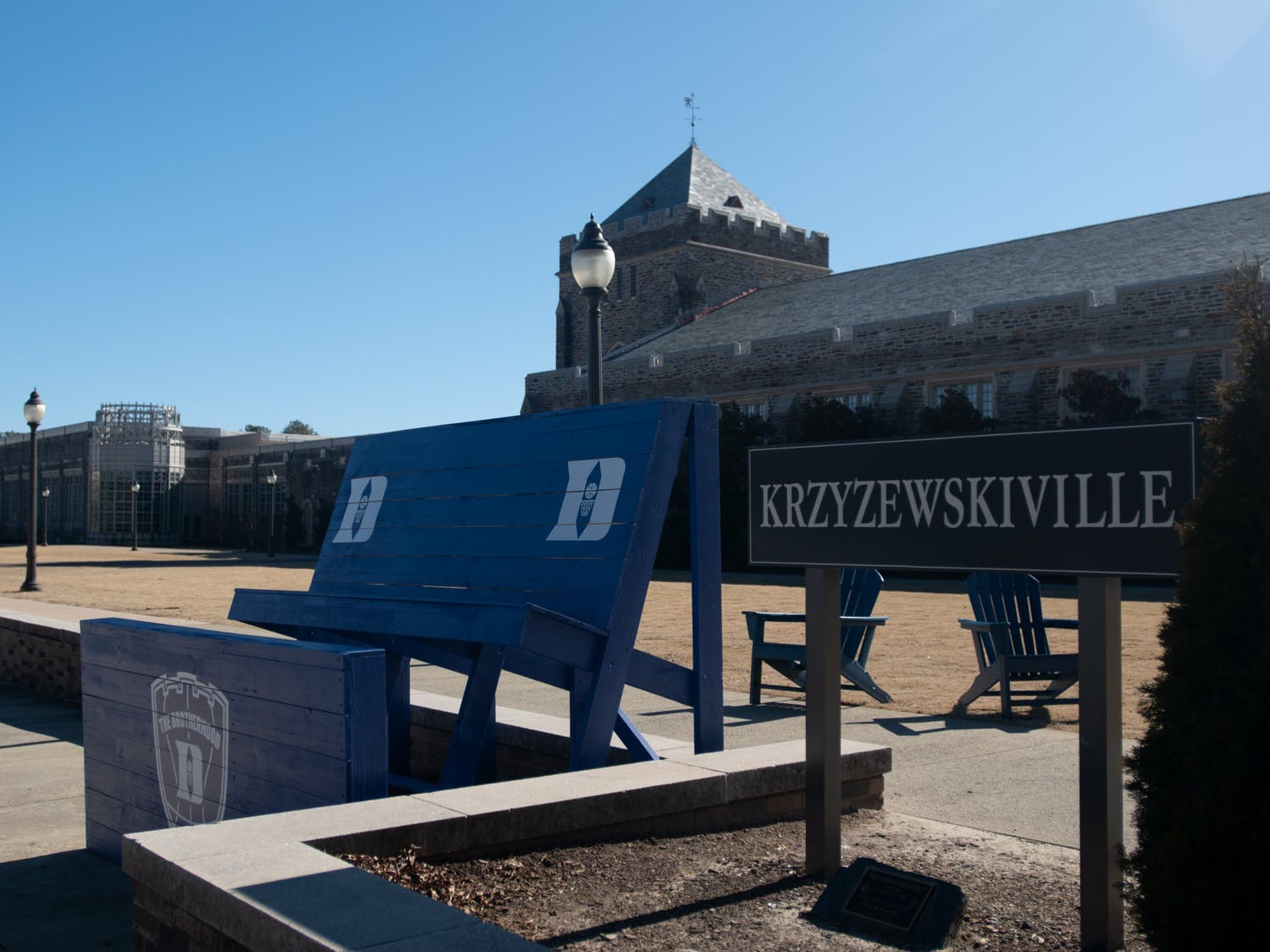 There are no tents in Krzyzewskiville this year.