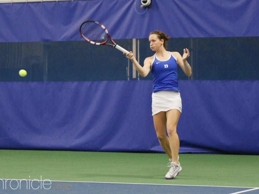 Senior Chalena Scholl's only ACC singles loss in the regular season came against the Tar Heels.