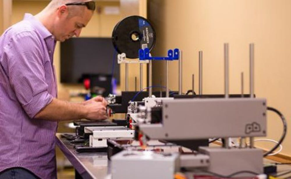 <p>There are currently 55 printers in Duke's Innovation Co-Lab, which students can use.</p>