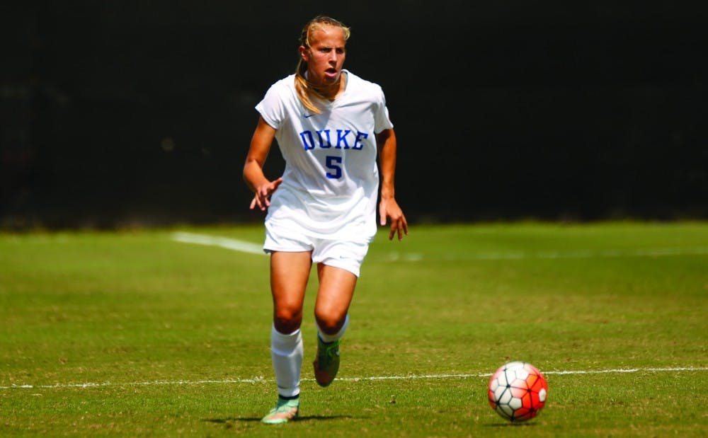 <p>Junior Rebecca Quinn scored a first-half goal for the Blue Devils, but that was the only one they would score against Boston College as Duke tied its second straight ACC match Thursday.</p>
