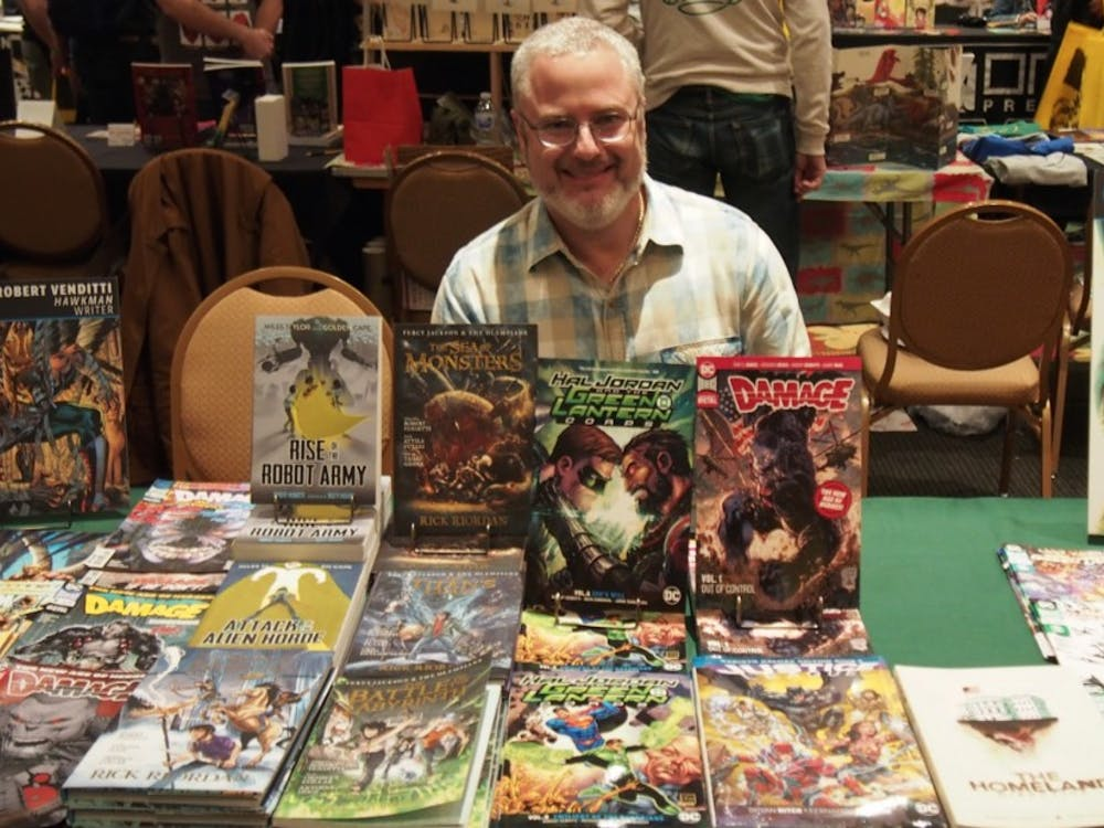 Robert Venditti has been writing comics full time since 2012, and traveled from Atlanta to attend NC Comicon.