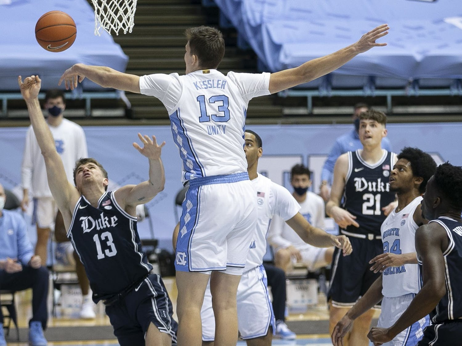 The Blue Devils were punched right out of the gate Saturday, but couldn't punch back in their 91-73 loss to North Carolina.