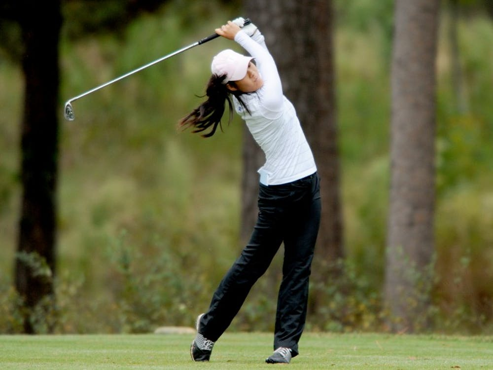 Senior Celine Boutier finished tied for 13th as the Blue Devils kicked off their fall slate with a fourth-place finish at the Annika Intercollegiate Invitational.