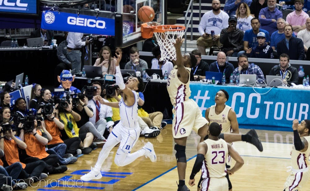 <p>Tre Jones scored a career-high 18 points Saturday.</p>
