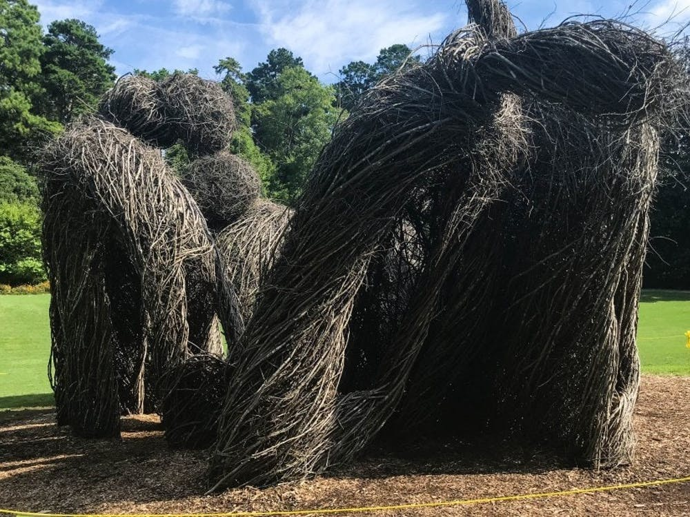 "Patrick Dougherty's ""The Big Easy"" was projected to stay up until 2019, but was taken down in August due to heavier than expected rainfall this year."