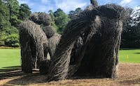 """Patrick Dougherty's """"The Big Easy"""" was projected to stay up until 2019, but was taken down in August due to heavier than expected rainfall this year."""
