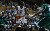 R.J. Barrett led Duke with 16 points in the first half.