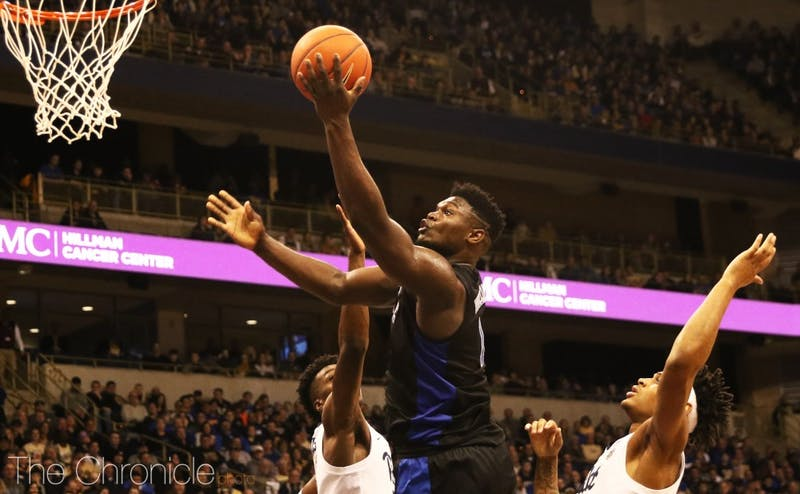 Zion Williamson bullied the Panthers' interior defense Tuesday.