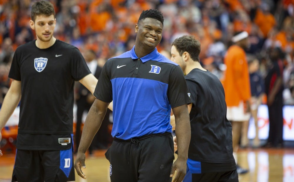 <p>Zion Williamson is expected to return to the hardwood in Duke's first ACC tournament game Thursday night.</p>