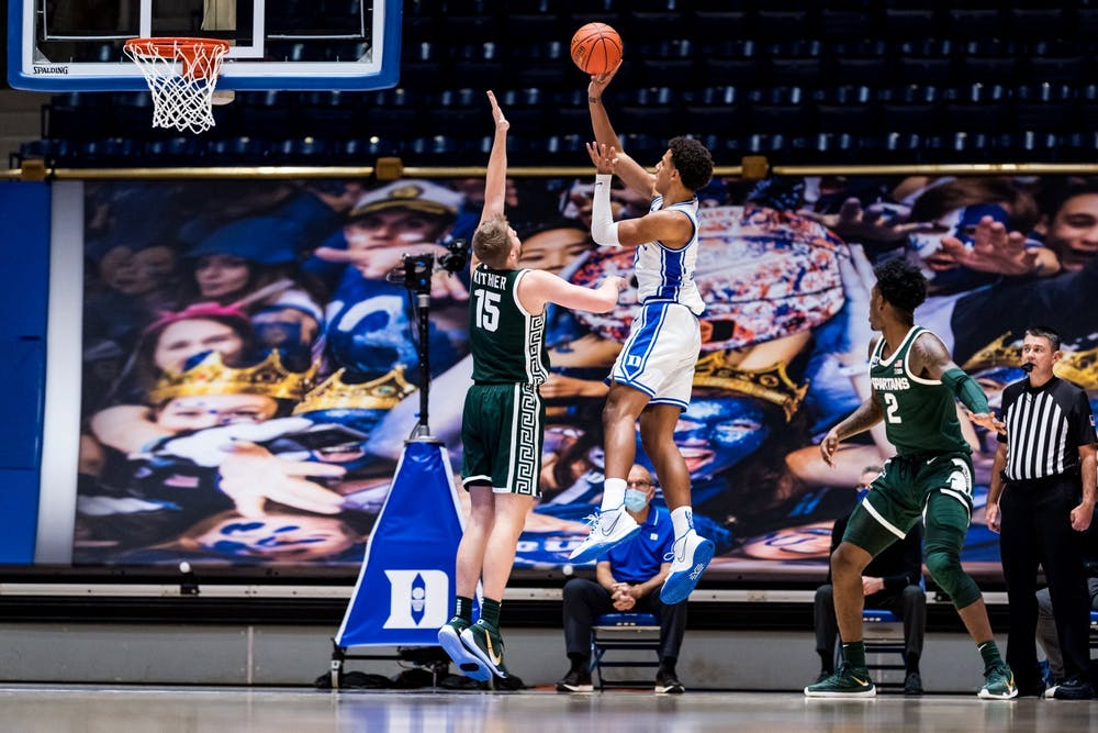 <p>Jalen Johnson needs to prove he can become a reliable second scoring option for the Blue Devils against tough opponents.</p>