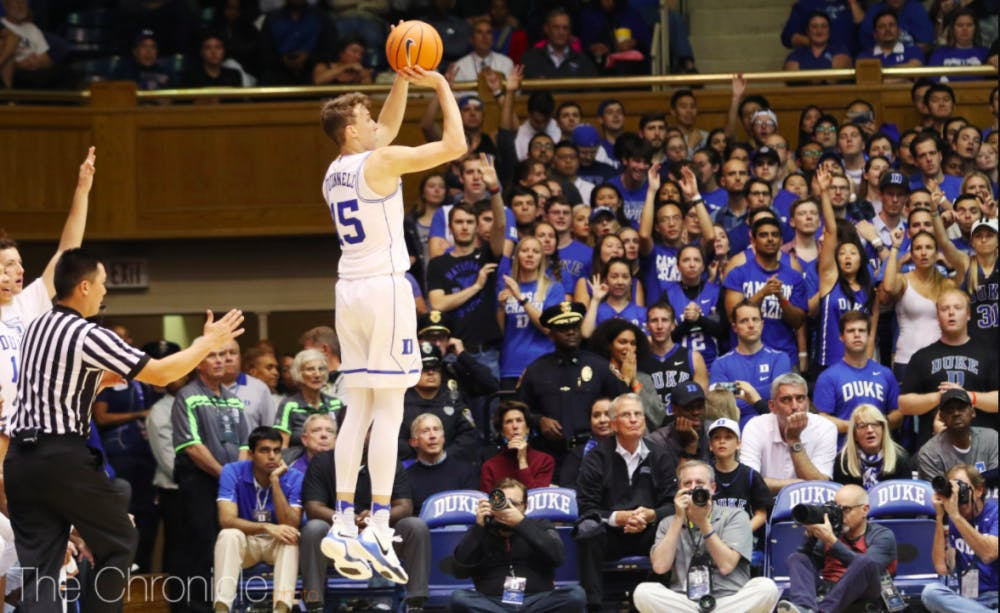 O'Connell has been lights-out from deep for Duke.