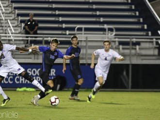 Senior forward Daniel Wright notched one of Duke's two goals in its season-opening loss at Kentucky.
