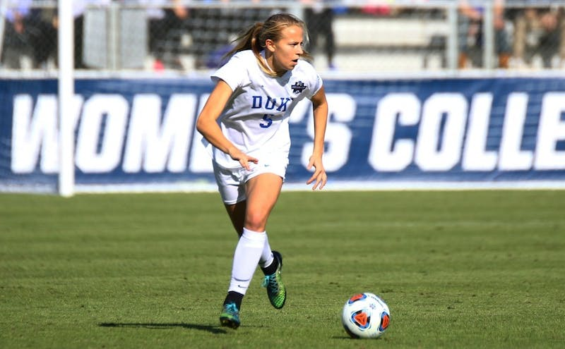 Midfielder Rebecca Quinn became Duke second women's soccer player ever to qualify for the Olympics when she was selected to Canada's 18-player roster Monday.