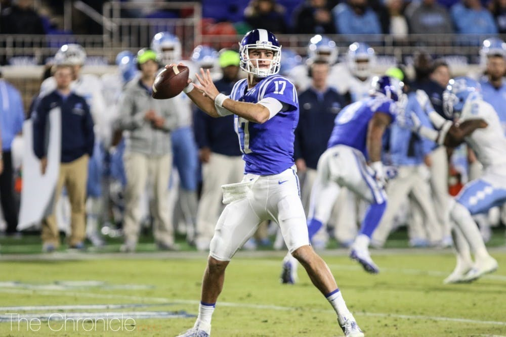 <p>This past spring, Daniel Jones became the first Duke quarterback ever selected in the first round of the NFL Draft.</p>