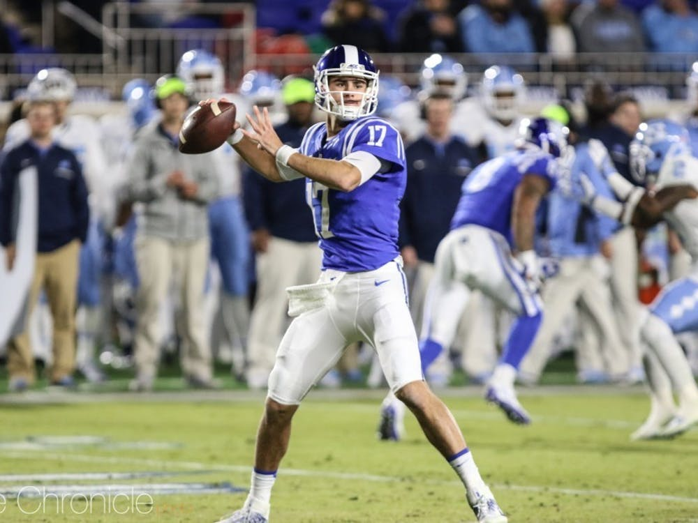 This past spring, Daniel Jones became the first Duke quarterback ever selected in the first round of the NFL Draft.
