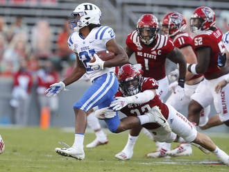 Running back Mataeo Durant has paced the Blue Devils' offense early.