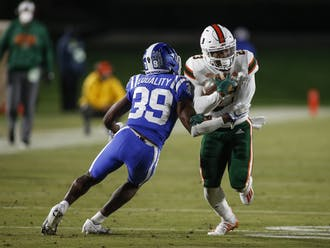 The Blue Devils were dominated on both sides of the ball Saturday night, unable to win their third straight against the Hurricanes.