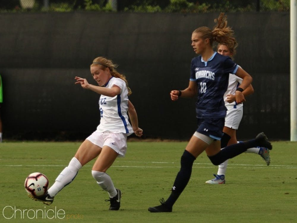 Tess Boade put the Blue Devils on the board Friday with her third goal of the season.