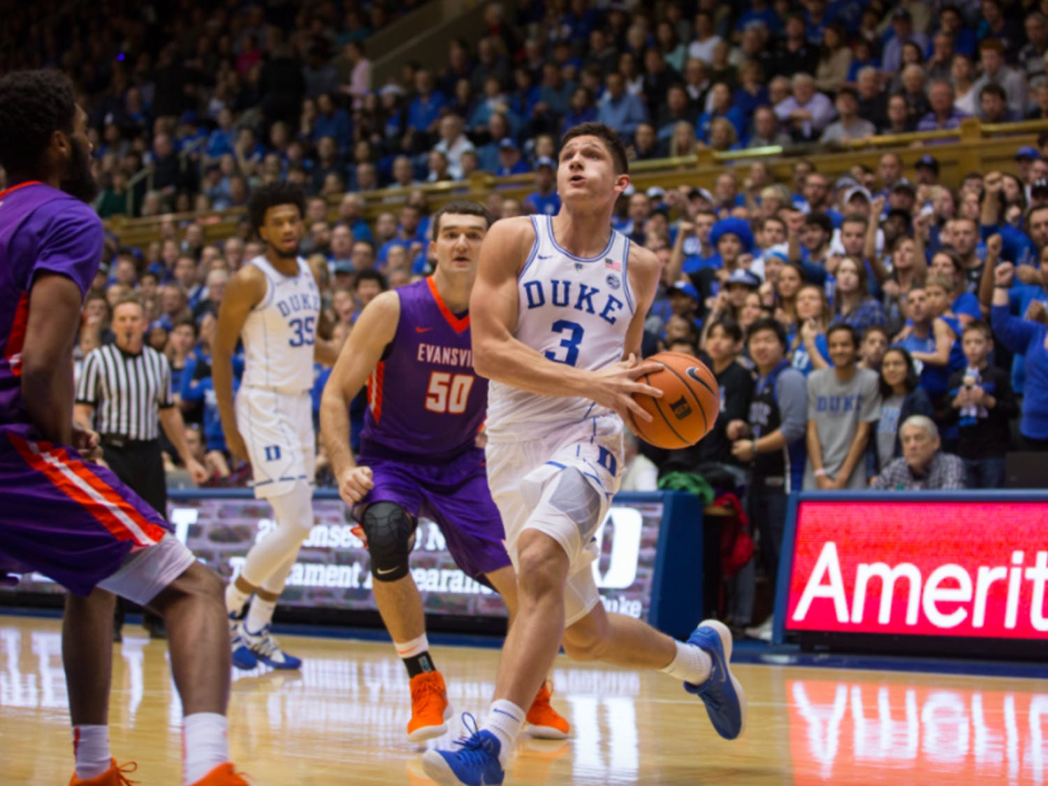 Many Blue Devil fans were ecstatic when Allen opted to return for his senior season.