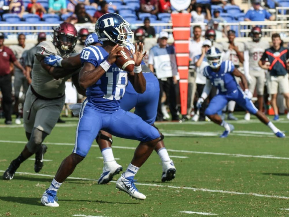 Quentin Harris will be turned to as a leader for Duke football.
