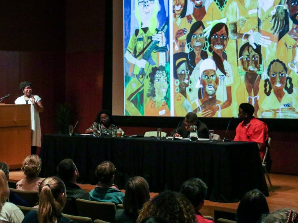 "The event focused on the Nasher exhibit ""Nina Chanel Abney: Royal Flush"" and how Abney's work highlights issues of racial justice."